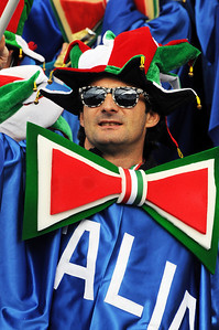 An Italian fan during the first run of the women's GS in the opening event on the Audi FIS World Cup in Soelden, Austria. (c) 2010 Tom Kelly/U.S. Ski Team