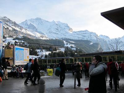 Lauberhorn fans move to the Wengeneralpbahn following the super combined (Doug Haney/U.S. Ski Team)