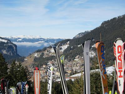 A view toward the village of Wengen from the start of the Lauberhorn slalom (Doug Haney/U.S. Ski Team)