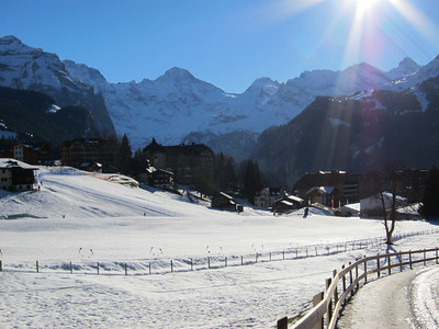A postcard perfect day in Wengen for the men's slalom (Doug Haney/U.S. Ski Team)