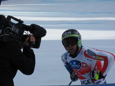 Travis Ganong after the exhausting Lauberhorn downhill (Doug Haney/U.S. Ski Team)