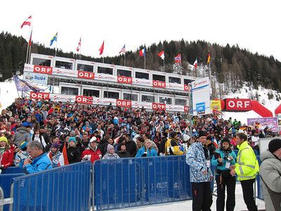 Fans pack the Zauchensee stands for the women's downhill (Doug Haney/U.S. Ski Team)