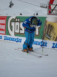 Stacey Cook doing some serious visualization in Zauchensee (Doug Haney/U.S. Ski Team)