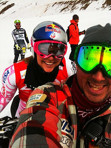 Lindsey Vonn and Kristian Saile in Chile (Kristian Saile)