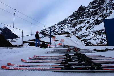 The downhill ski lineup in Portillo (Laurenne Ross/http://lalalaurenne.wordpress.com/)