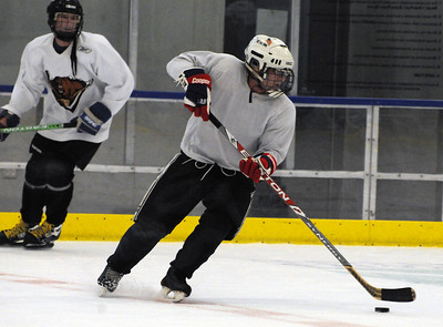 Men's alpine team works out at the U.S. Ski Team Hockey Camp.
