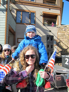 Sarah and Lasse Schleper at the opening ceremonies in Winter Park (Doug Haney/U.S. Ski Team)