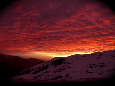 Sunset in Valle Nevado Resi Stiegler/www.resi-stiegler.com)