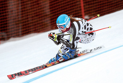 Julia Mancuso ripping during speed training at Copper Mountain (Mark Fox/Summit Daily News)