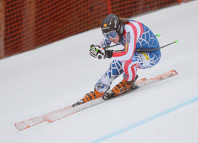 Stacey Cook zooms at Copper Mountain during early season speed training (Mark Fox/Summit Daily News)
