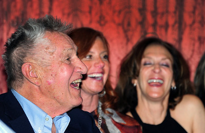 Bob Beattie enjoys a laugh as friends gathered at Aspen's historic Hotel Jerome to honor him. (Tom Kelly)