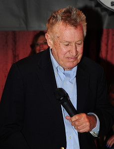 Am emotional Bob Beattie during a tribute to honor him at Aspen's historic Hotel Jerome. (Tom Kelly)