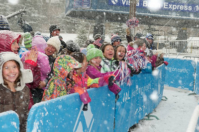 The crowd at First Tracks - the Alpine Team Announcement - presented by Nature Valley at Vail, CO (Tom Green/Vail Resorts)