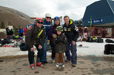 (l-r) Ian Connor, Katie Richardson, Anne McCandless, Mac Connor and Doug Haney  (Tom Green/Vail Resorts)
