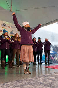 Sarah Schleper at First Tracks - the Alpine Team Announcement - presented by Nature Valley at Vail, CO (Tom Green/Vail Resorts)