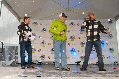 Doug Haney, John Garnsey and Doug Lewis at First Tracks - the Alpine Team Announcement - presented by Nature Valley at Vail, CO (Tom Green/Vail Resorts)