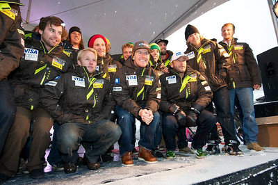 The men's U.S. Ski Team at First Tracks - the Alpine Team Announcement - presented by Nature Valley at Vail, CO (Tom Green/Vail Resorts)