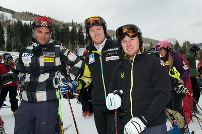Tommy Biesemeyer, and Andrew Weibrecht  (Tom Green/Vail Resorts) 2011-12 U.S. Ski Team early season training on Golden Peak at Vail