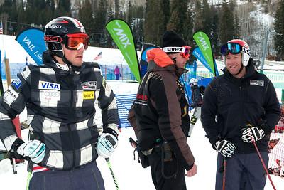 Tommy Biesemeyer, and Marco Sullivan  (Tom Green/Vail Resorts) 2011-12 U.S. Ski Team early season training on Golden Peak at Vail
