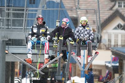 Tommy Biesemeyer, Megan McJames and Hailey Duke  (Tom Green/Vail Resorts) 2011-12 U.S. Ski Team early season training on Golden Peak at Vail