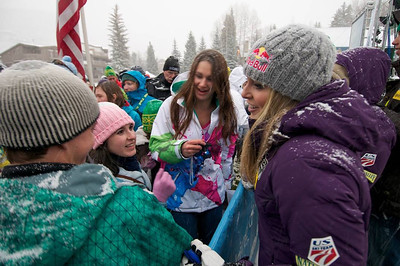 Lindsey Vonn at First Tracks - the Alpine Team Announcement - presented by Nature Valley at Vail, CO (Tom Green/Vail Resorts)