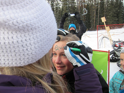 Lindsey Vonn signs a fan after winning her second straight downhill in Lake Louise (Doug Haney/U.S. Ski Team)