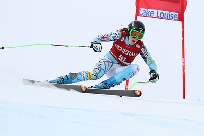 Brooke Wales in the second Audi FIS Alpine World Cup downhill in Lake Louise (Malcolm Carmichael/Alpine Canada)