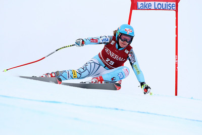 Kiley Staples competes in the second Audi FIS Alpine World Cup downhill in Lake Louise (Malcolm Carmichael/Alpine Canada)