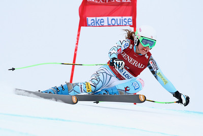 Leanne Smith in the second Audi FIS Alpine World Cup downhill in Lake Louise (Malcolm Carmichael/Alpine Canada)