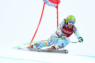Stacey Cook in the second Audi FIS Alpine World Cup downhill in Lake Louise (Malcolm Carmichael/Alpine Canada)