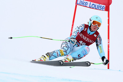 Chelsea Marshall competes in the second Audi FIS Alpine World Cup downhill in Lake Louise (Malcolm Carmichael/Alpine Canada)