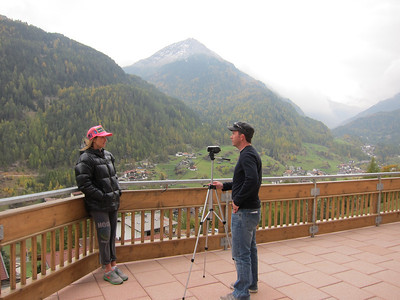 Julia Mancuso interviews with Ski Racing Magazine prior to the 2012 Audi FIS Alpine World Cup opener in Soelden, Austria (Doug Haney/U.S. Ski Team)