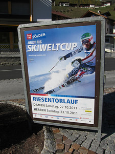 Bode Miller on the race poster for the 2012 Audi FIS Alpine World Cup opener in Soelden, Austria (Doug Haney/U.S. Ski Team)