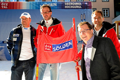 U.S. Ski Team Alpine Director Patrick Riml (r) with new partners Soelden/Obergurgl-Hochgurgl in the Oetztal Valley of Austria (Oetztal Tourism)