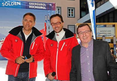 The U.S. Ski Team partnership announcement with Soelden/Obergurgl-Hochgurgl in the Oetztal Valley of Austria (Oetztal Tourism)