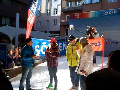 Julia Mancuso, Ted Ligety and Lindsey Vonn at the Soelden/Obergurgl-Hochgurgl/Oetztal partnership announcement in Innsbruck, Austria (Oetztal Tourism)