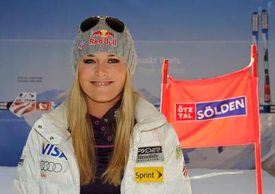 Lindsey Vonn at the Soelden/Obergurgl-Hochgurgl/Oetztal partnership announcement in Innsbruck, Austria (Oetztal Tourism)