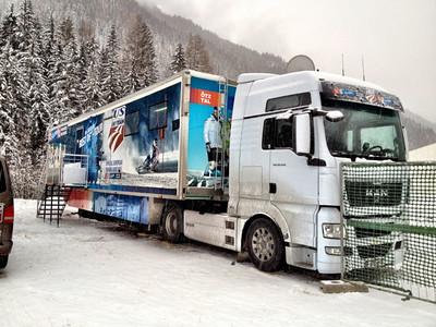 The new U.S. Ski Team Mobile Nutrition Center sponsored by Soelden/Obergurgl-Hochgurgl/Oetztal (Ted Ligety) Julia Mancuso gives Eurosport a tour of the new mobile nutrition center supported by Soelden/Oetztal/Obergurgl-Hochgurgl, the Official European Training Base of the U.S. Ski Team (Erich Speiss)