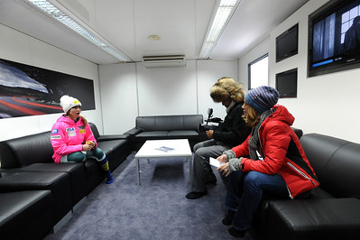 Julia Mancuso gives Eurosport a tour of the new mobile nutrition center supported by Soelden/Oetztal/Obergurgl-Hochgurgl, the Official European Training Base of the U.S. Ski Team (Erich Speiss)