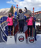 The women's U.S. downhill championship podium from Aspen (l-r) Abby Ghent 2nd, Julia Ford 1st, Brooke Wales 3rd (Brad Ghent)