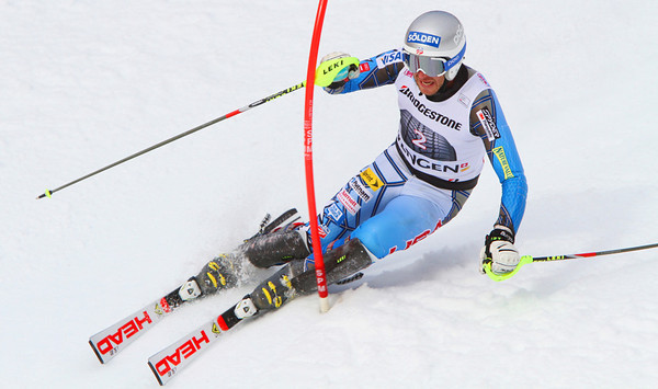 Bode Miller lands third in the Wengen super combined for the 74th World Cup podium of his career (Malcolm Carmichael/Alpine Canada)