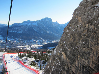 A view from above the Tofane Schuss (Doug Haney/U.S. Ski Team)