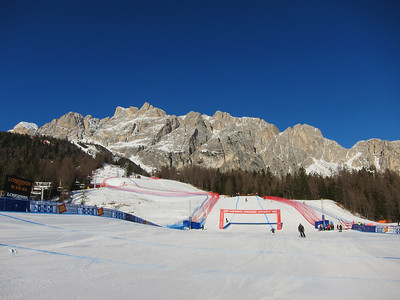 The view of the Cortina finish (Doug Haney/U.S. Ski Team)