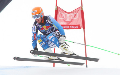 Ted Ligety in the second downhill training run at Kitzbuehel (Malcolm Carmichael/Alpine Canada)