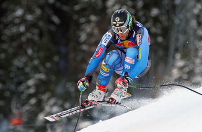 Wiley Maple in the second downhill training run at Kitzbuehel (Malcolm Carmichael/Alpine Canada)