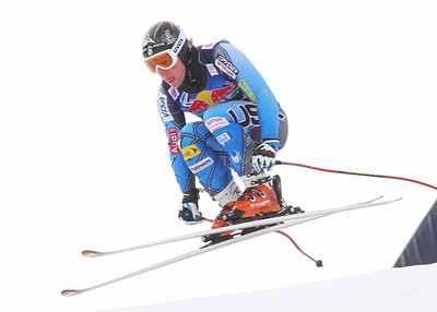 Andrew Weibrecht in the second downhill training run at Kitzbuehel (Malcolm Carmichael/Alpine Canada)