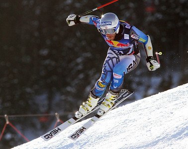 Bode Miller in the second downhill training run at Kitzbuehel (Malcolm Carmichael/Alpine Canada)