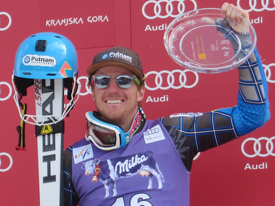 Ted Ligety, who won the Kranjska Gora giant slalom by 1.61 seconds, was ninth in the slalom to capture the Vitranc Trophy signifying the fastest racer over the two-day series (Doug Haney/U.S. Ski Team)