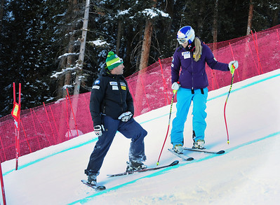 Lindsey Vonn inspects the Birds of Prey course before the historic first ever women's race at Beaver Creek. (U.S. Ski Team/Tom Kelly)