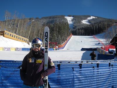 Lindsey Vonn after the women's super G freeski in Beaver Creek (Doug Haney/U.S. Ski Team)